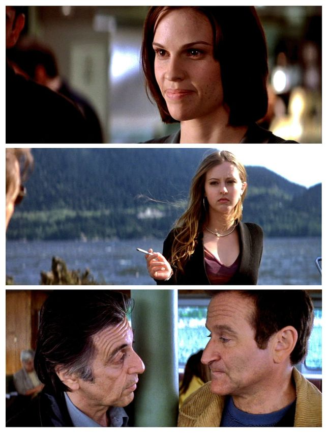 HILARY SWANK; KATHERINE ISABELLE, AL PACINO ET ROBIN WILLIAMS