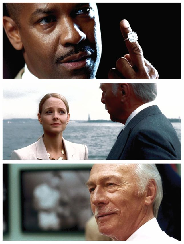 DENZEL WASHINGTON, JODIE FOSTER ET CHRISTOPHER PLUMMER