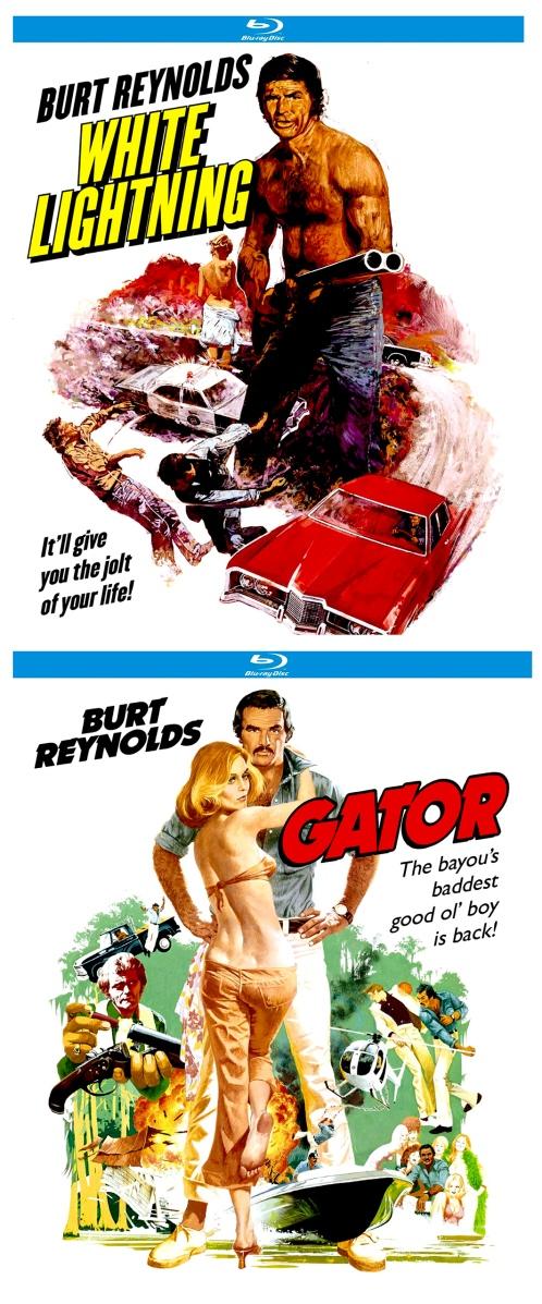 SORTIE BLU-RAY AUX U.S.A. DE «LES BOOTLEGGERS» ET  SA SEQUEL «GATOR», FILMS D'ACTION «REDNECKS» QUI FIRENT LA GLOIRE DE BURT REYNOLDS.