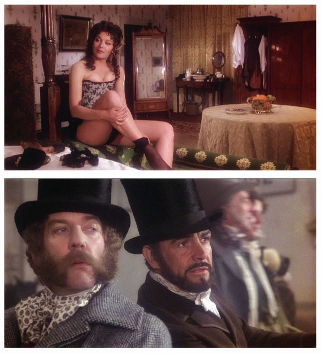 LESLEY-ANNE DOWN, DONALD SUTHERLAND ET SEAN CONNERY