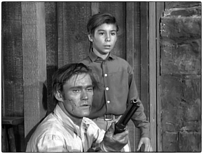 CHUCK CONNORS ET JOHNNY CRAWFORD