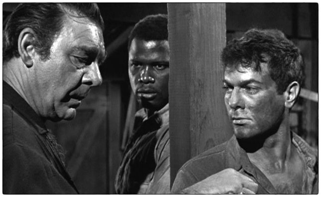 LON CHANEY, JR., SIDNEY POITIER ET TONY CURTIS