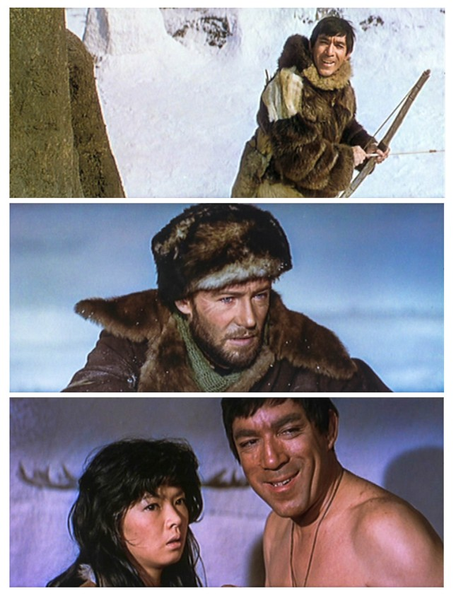 ANTHONY QUINN, PETER O'TOOLE ET YÔKO TANI