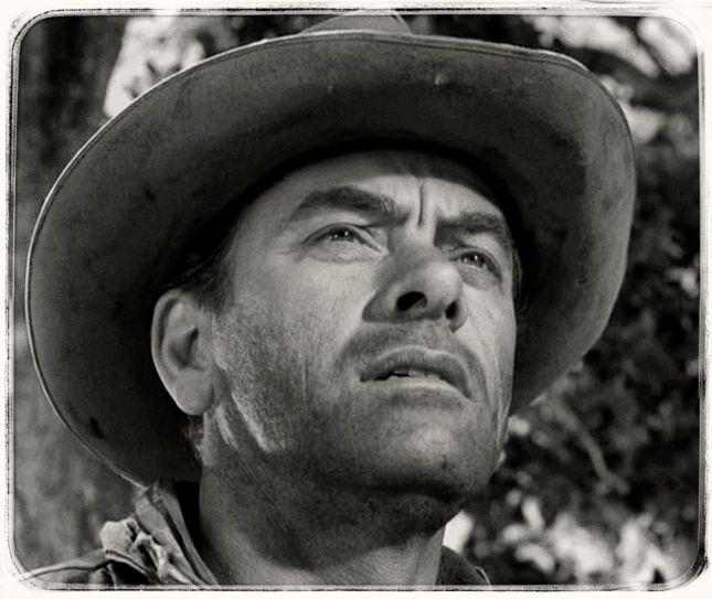 JOHN IRELAND (1914-1992), SECOND RÔLE IMPOSANT À L'ÉNORME FILMOGRAPHIE DE PLUS DE 200 TITRES.