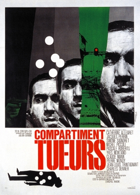 """L'affiche du film """"Compartiment Tueurs"""" de Costa-Gavras (1965)"""